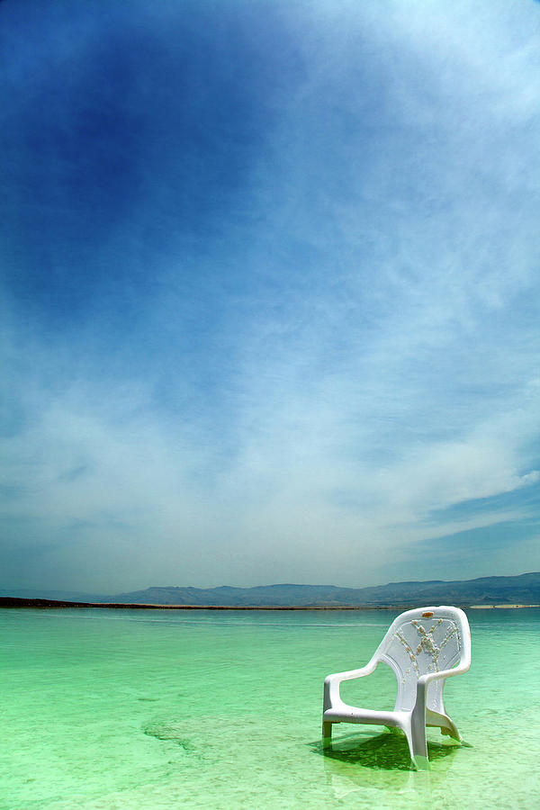 Easy Chair At The Dead Sea Photograph by Eldadcarin