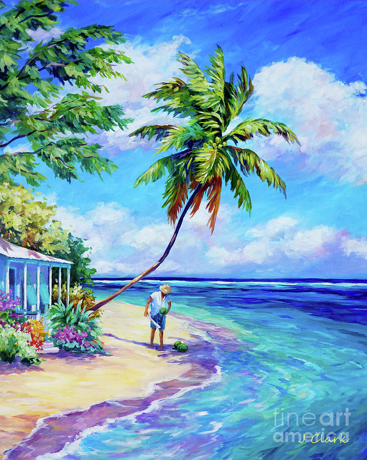 Caymanian Painting - Easy Pickings by John Clark