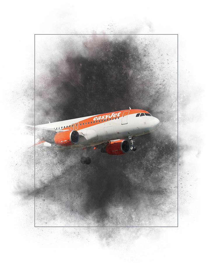 Easyjet Mixed Media - Easyjet Airbus A319-111 Painting by Smart Aviation