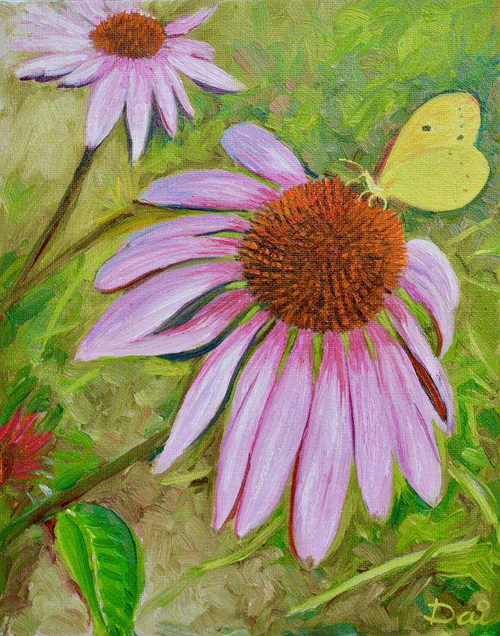 Echinacea with Butterfly by Dai Wynn