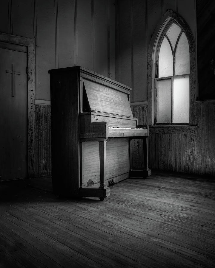 Black And White Photograph - Echoes Of Silenced Voices by Harriet Feagin