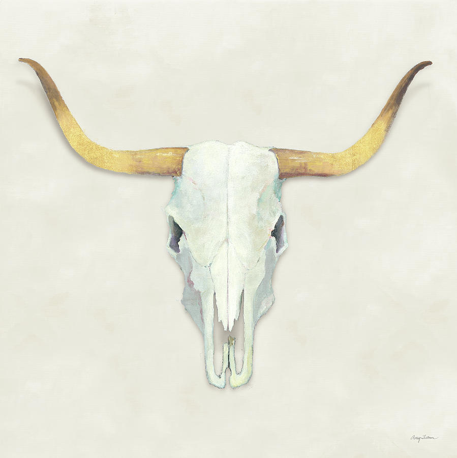 Animals Painting - Echoes White Gold by Avery Tillmon
