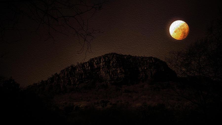 Eclipse Digital Art - Eclipse Night by Manjot Singh Sachdeva