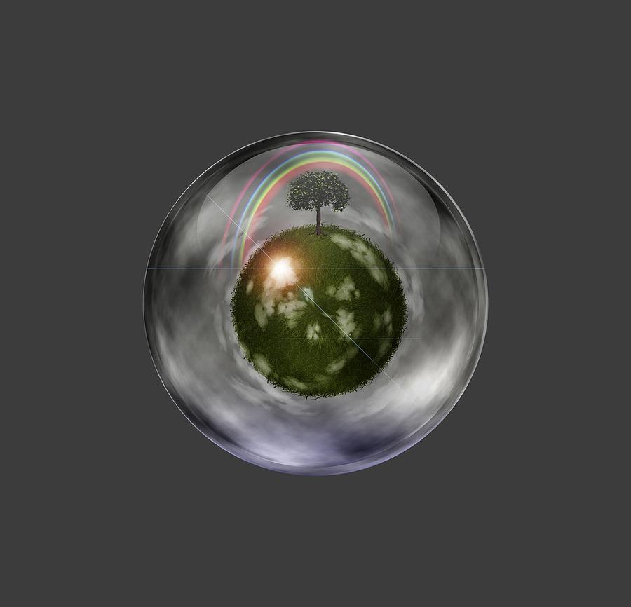 3d Digital Art - Ecosystem by Bruce Rolff