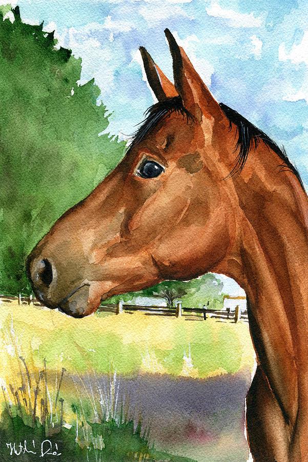 Eddie Horse Painting by Dora Hathazi Mendes