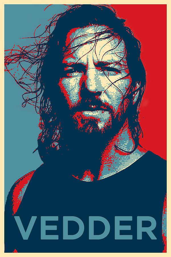 Pearl Jam Digital Art - Eddie by Robert Barsby