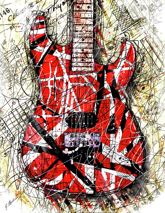 Eddie Van Halen Digital Art - Eddies Axe by Gary Bodnar