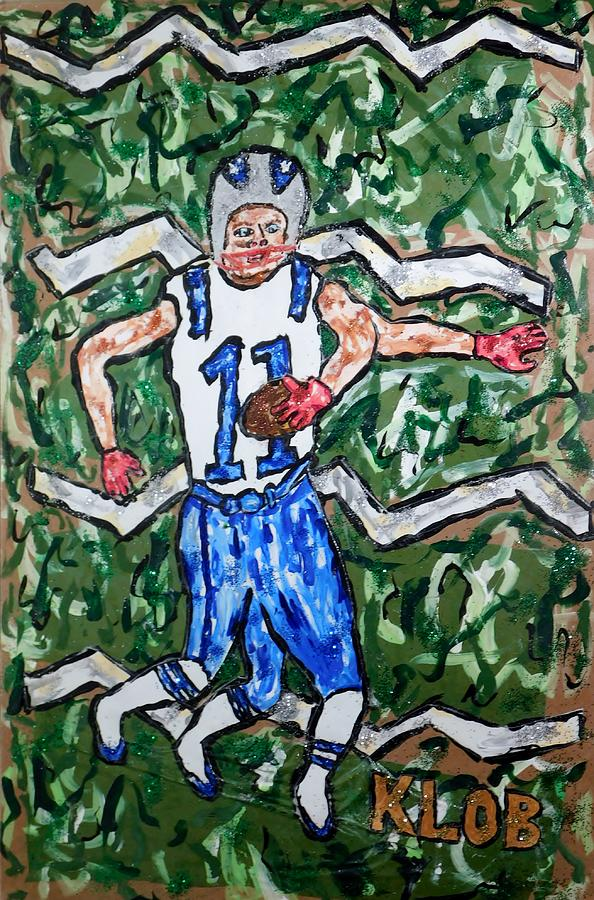 Edelman Running Downfield During Super Bowl by Kevin OBrien