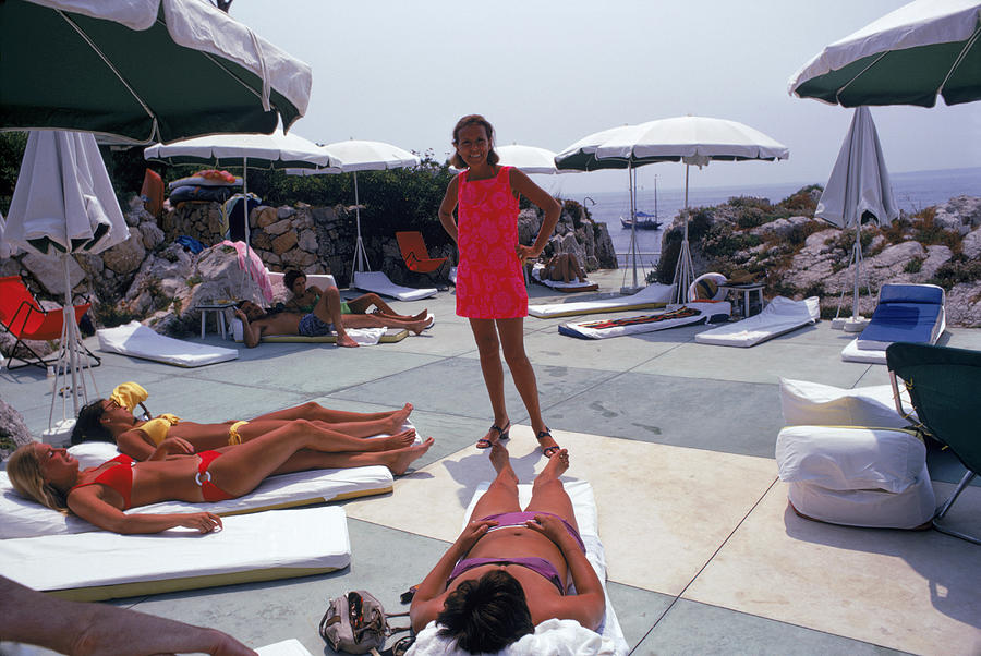 Eden Roc Beach Club Photograph by Slim Aarons