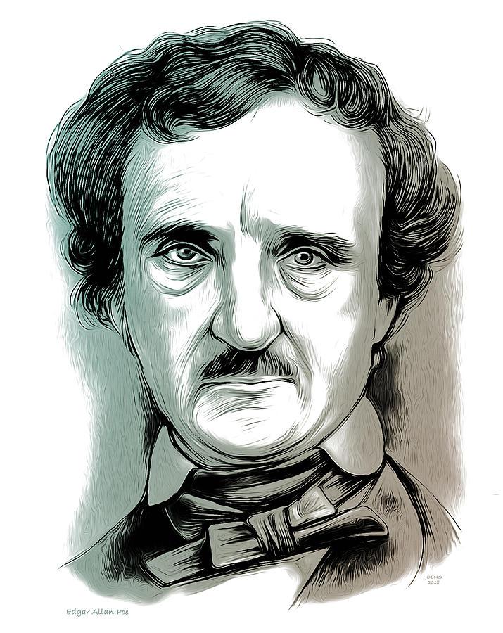 Edgar Allan Poe 2 Mixed Media