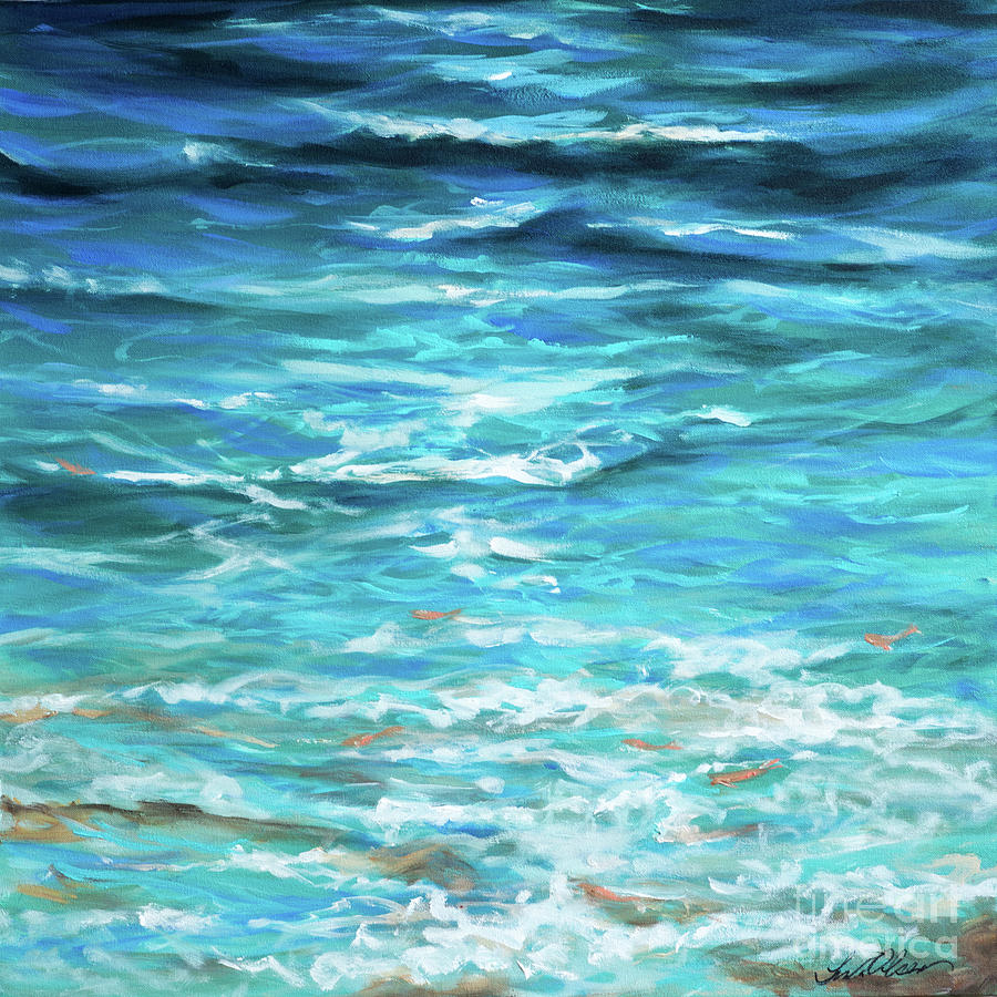 Edge of Tide with fish by Linda Olsen