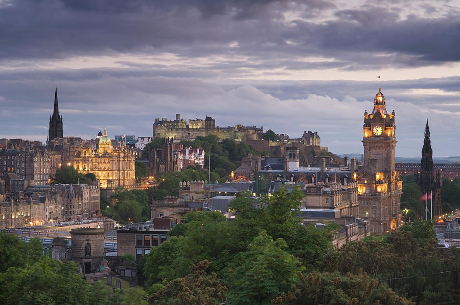 Edinburgh At Dusk Photograph by Northlightimages