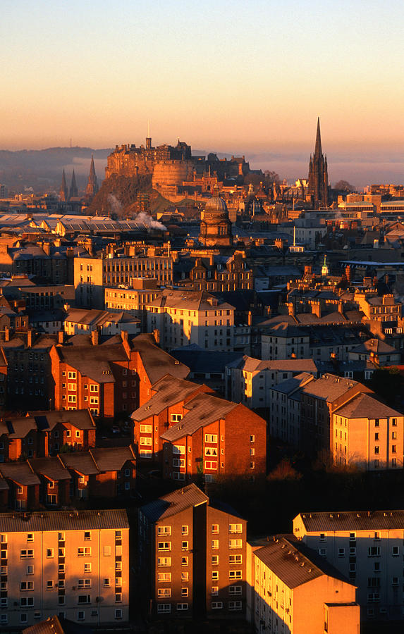 Edinburgh Castle And Old Town Seen From Photograph by Lonely Planet