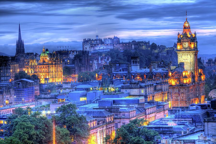 Edinburgh Castle At Night Photograph by Exploring The World