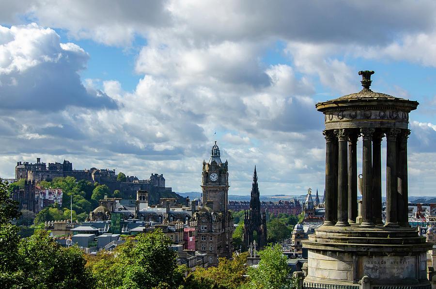 Edinburgh Castle Photograph - Edinburgh Castle From Calton Hill by Gerry Greer