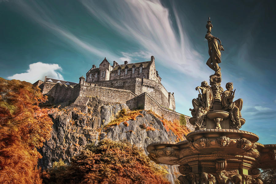 Edinburgh Castle Historic Scotland  by Carol Japp