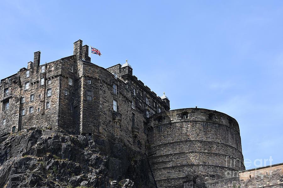 Edinburgh Castle Palace Block and Half Moon Battery by Yvonne Johnstone