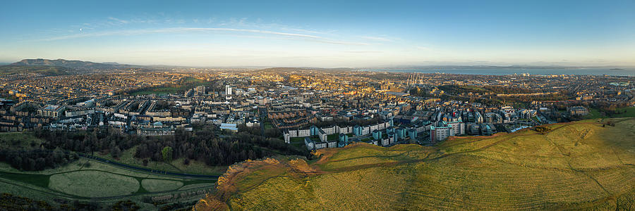 Edinburgh from Salisbury Crags by Dave Bowman