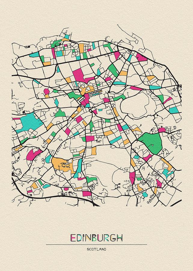 Edinburgh, Scotland City Map