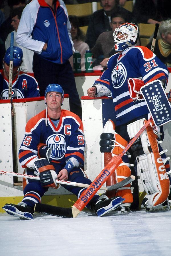Edmonton Oilers V Boston Bruins Photograph by Steve Babineau