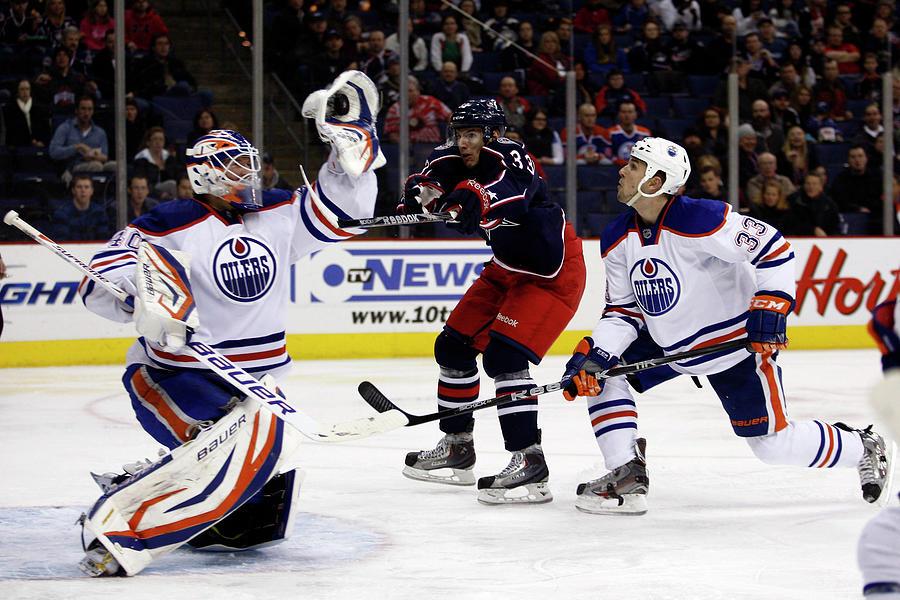 Edmonton Oilers V Columbus Blue Jackets Photograph by John Grieshop