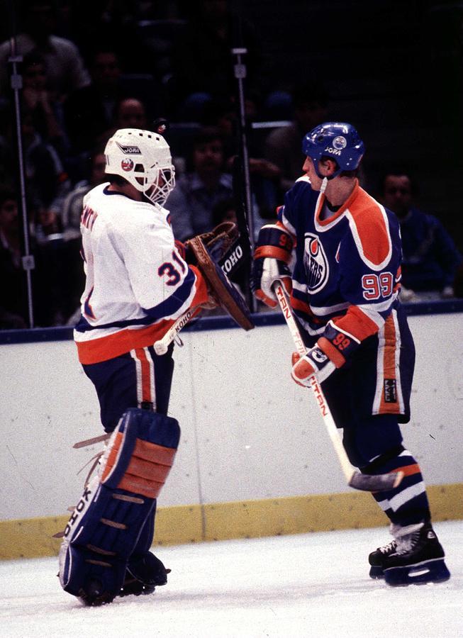 1980-1989 Photograph - Edmonton Oilers V New York Islanders by B Bennett