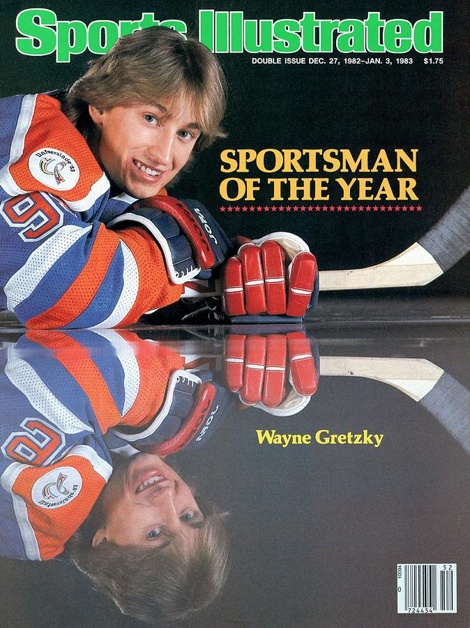 Edmonton Oilers Wayne Gretzky, 1982 Sportsman Of The Year Sports Illustrated Cover Photograph by Sports Illustrated