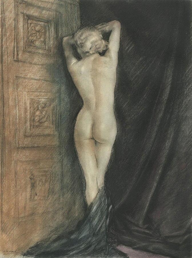 Nude Woman Photograph - Edouard Chimot Nude In Boudoir  by Andrea Kollo