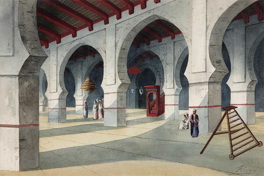 Architecture Painting - Eduardo Florez Ibanez Great Mosque by Eduardo Florez