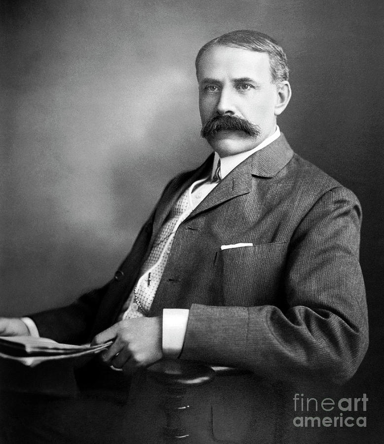 Elgar Photograph - Edward Elgar Studio Portrait by English School