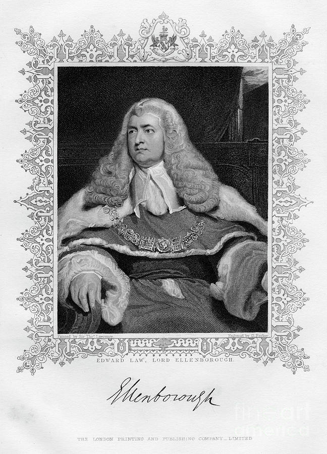 Edward Law 1750-1818, 1st Baron Drawing by Print Collector
