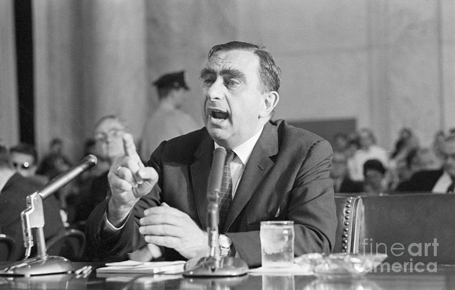 Edward Teller At Hearing Photograph by Bettmann