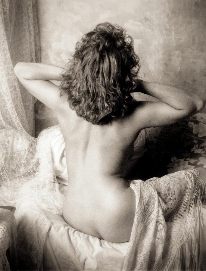 Black And White Photograph - Edwardian Nude 1 by Simon Pocklington