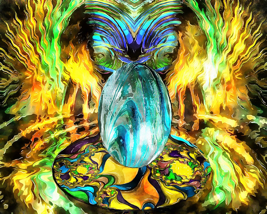 Egg Psychedelic by Mario Carini