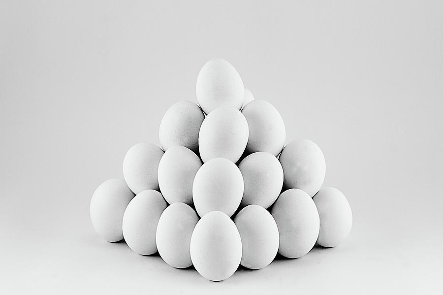 Egg Pyramid Photograph by Gert Lavsen Photography