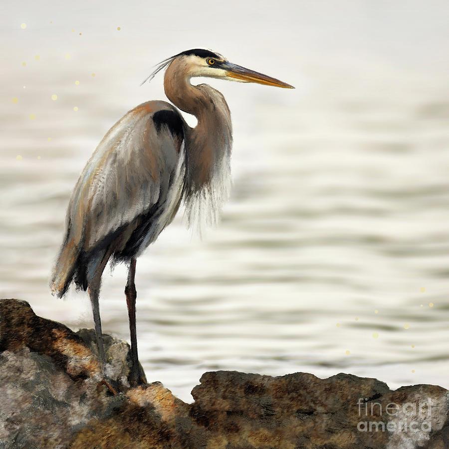 Egret by Anne Vis