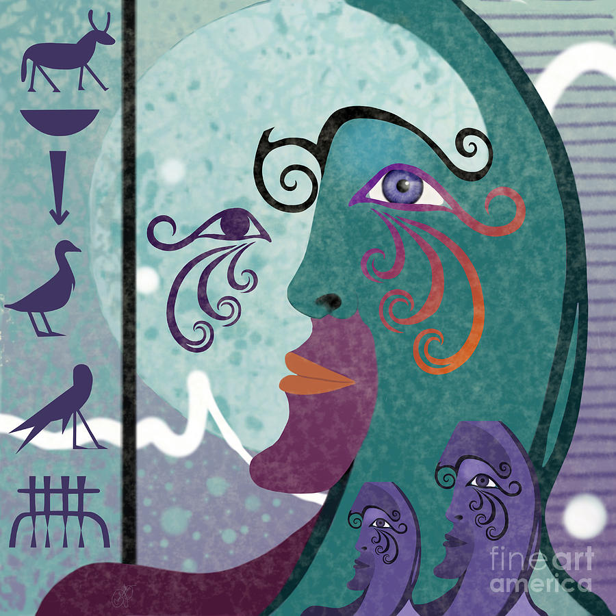 Egyptian Picasso I by Carol Jacobs
