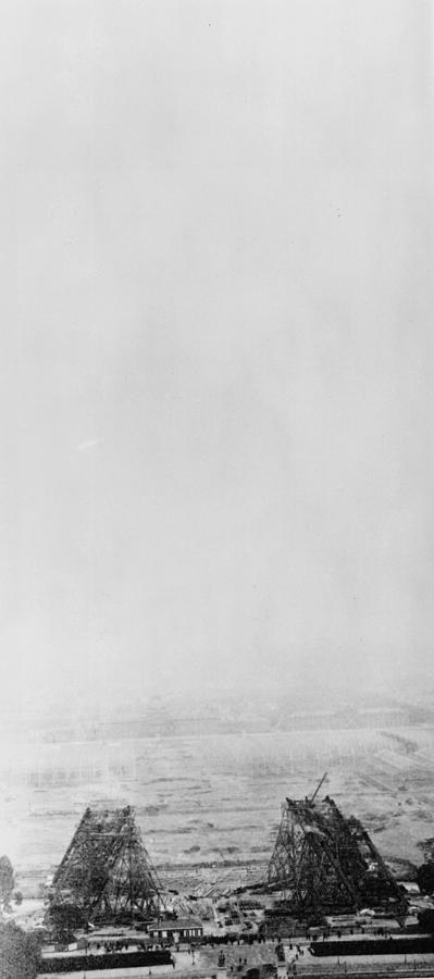Eiffel Tower Photograph - Eiffel Construction 2 by Henry Guttmann Collection