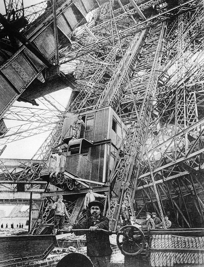 Eiffel Elevator Photograph by Three Lions