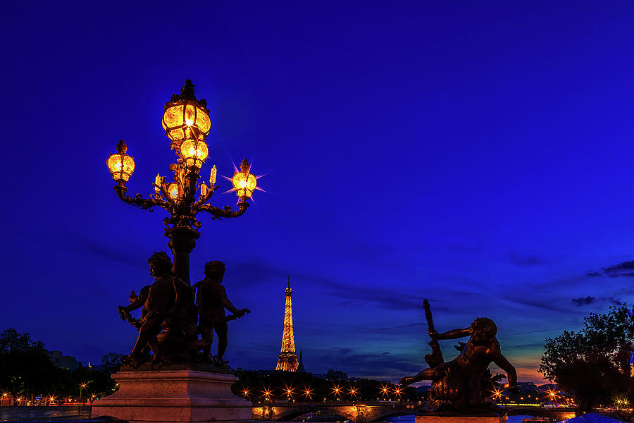 Paris Photograph - Eiffel From The Pont Alexandre by Andrew Soundarajan