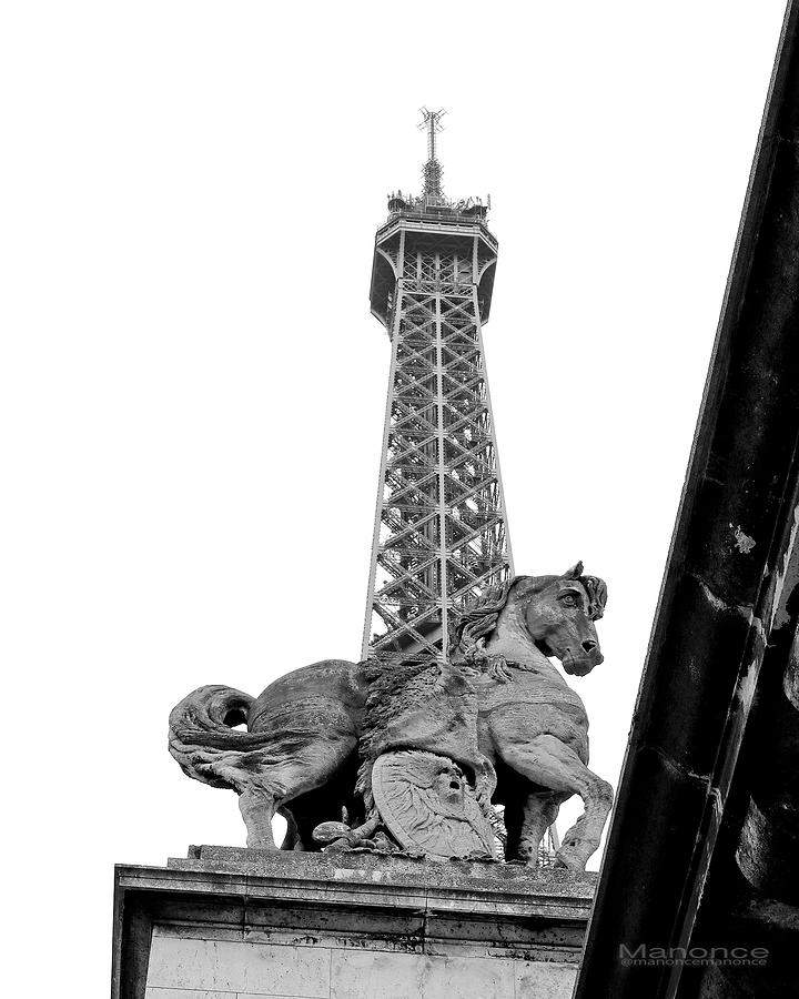 Eiffel Tower 3 Pyrography by Manonce Artist