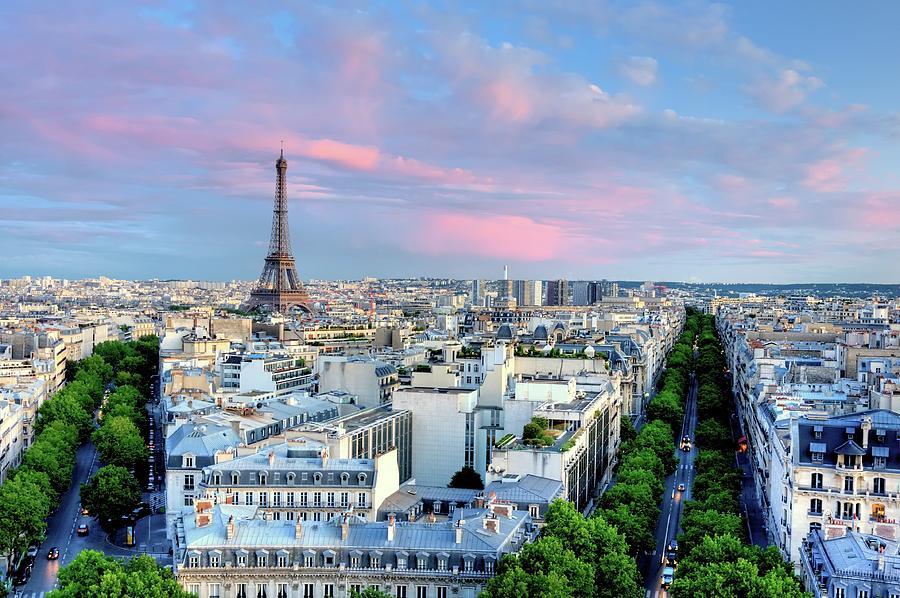 Eiffel Tower At Sunset Photograph by Shaadi Faris