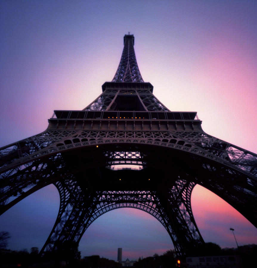 Eiffel Tower At Sunset Photograph by Zeb Andrews