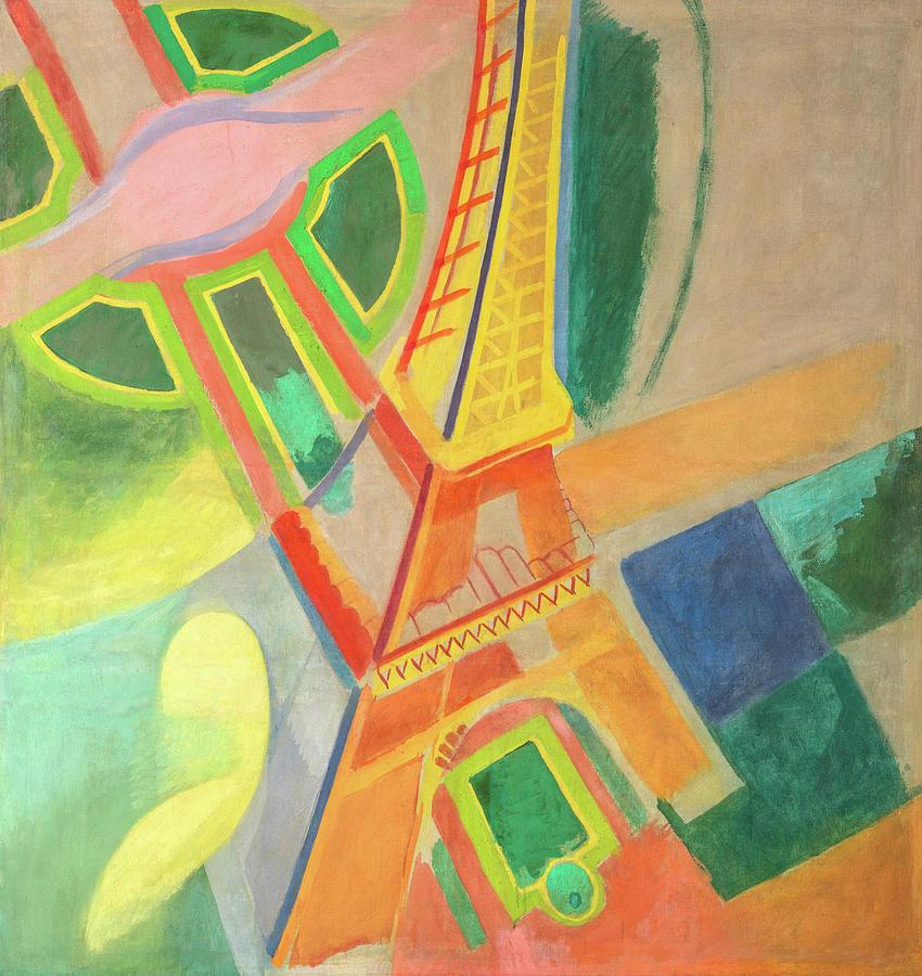 Robert Delaunay Painting - Eiffel Tower, Circa 1924 by Robert Delaunay