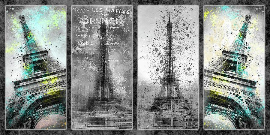 Eiffel Tower Collage by Melanie Viola