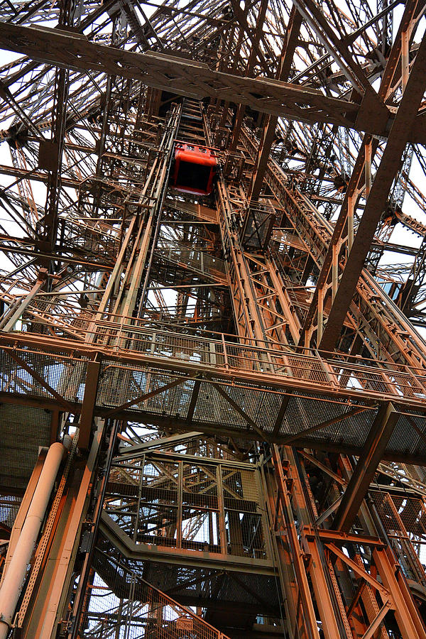 Eiffel Tower Photograph - Eiffel Tower Elevator by Two Small Potatoes