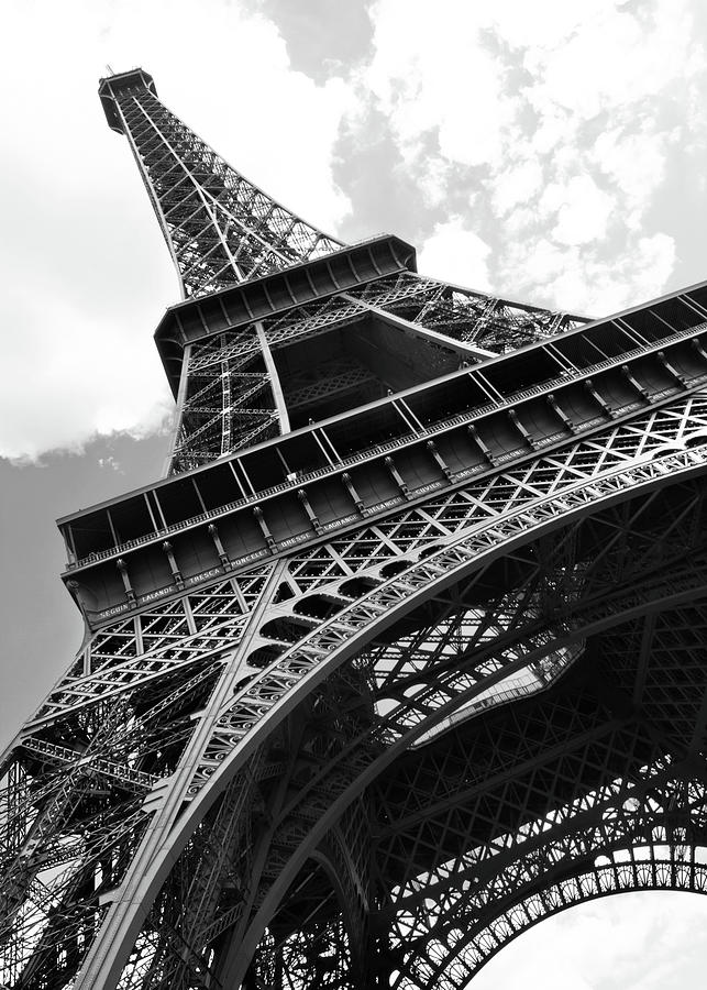 Eiffel Tower In Black And White Photograph by Sarah8000