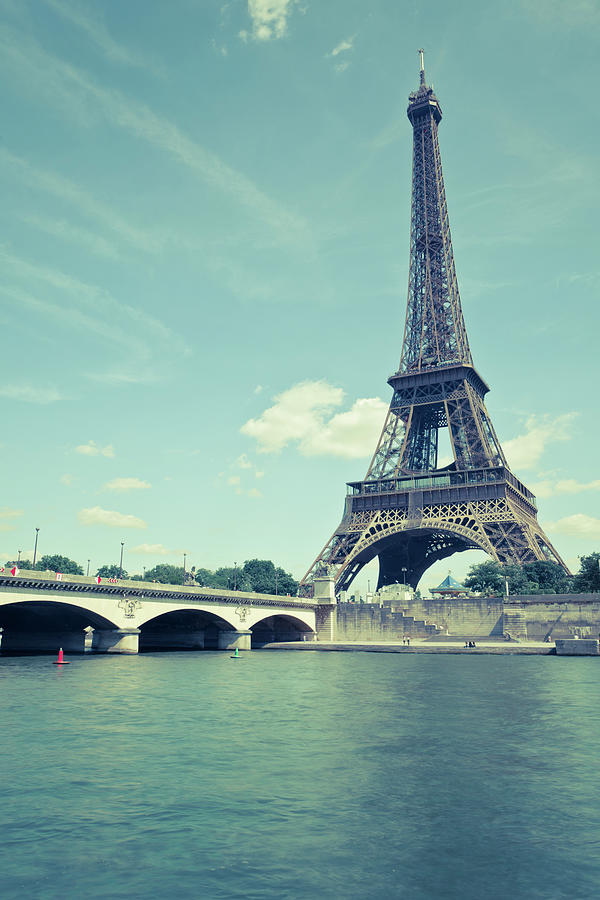 Eiffel Tower In Retro Pastel Colors Photograph by Pawel.gaul
