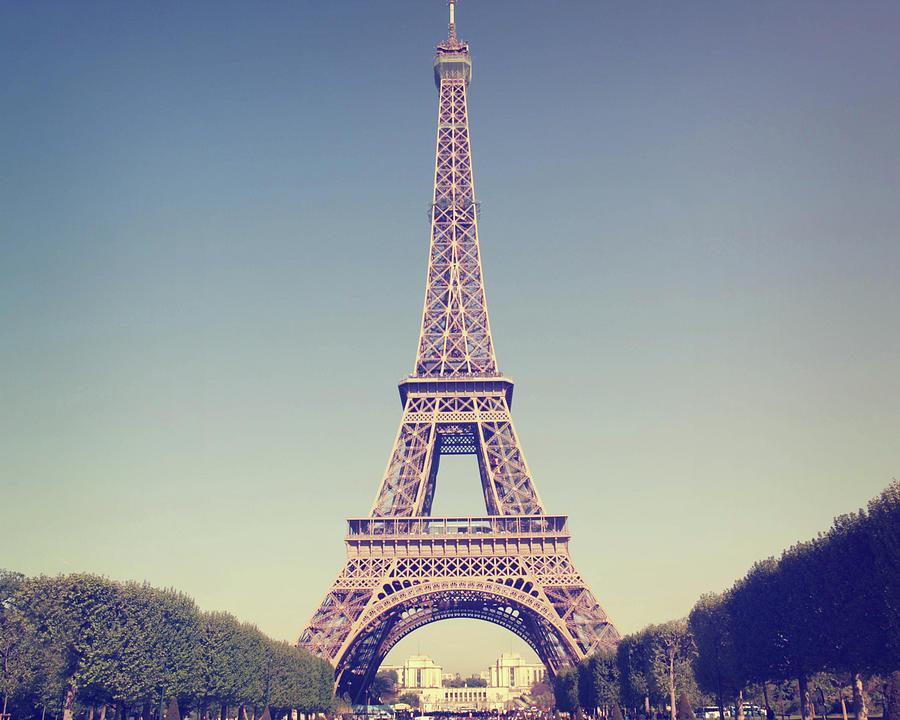 Eiffel Tower Photograph by Liz Rusby