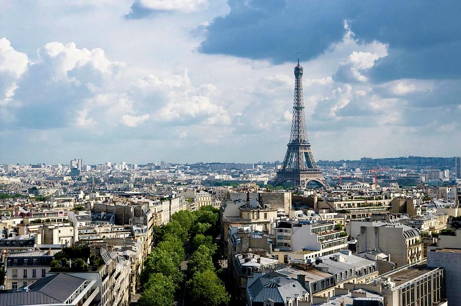 Eiffel Tower View From Arc De Triomphe Photograph by Keith Sherwood